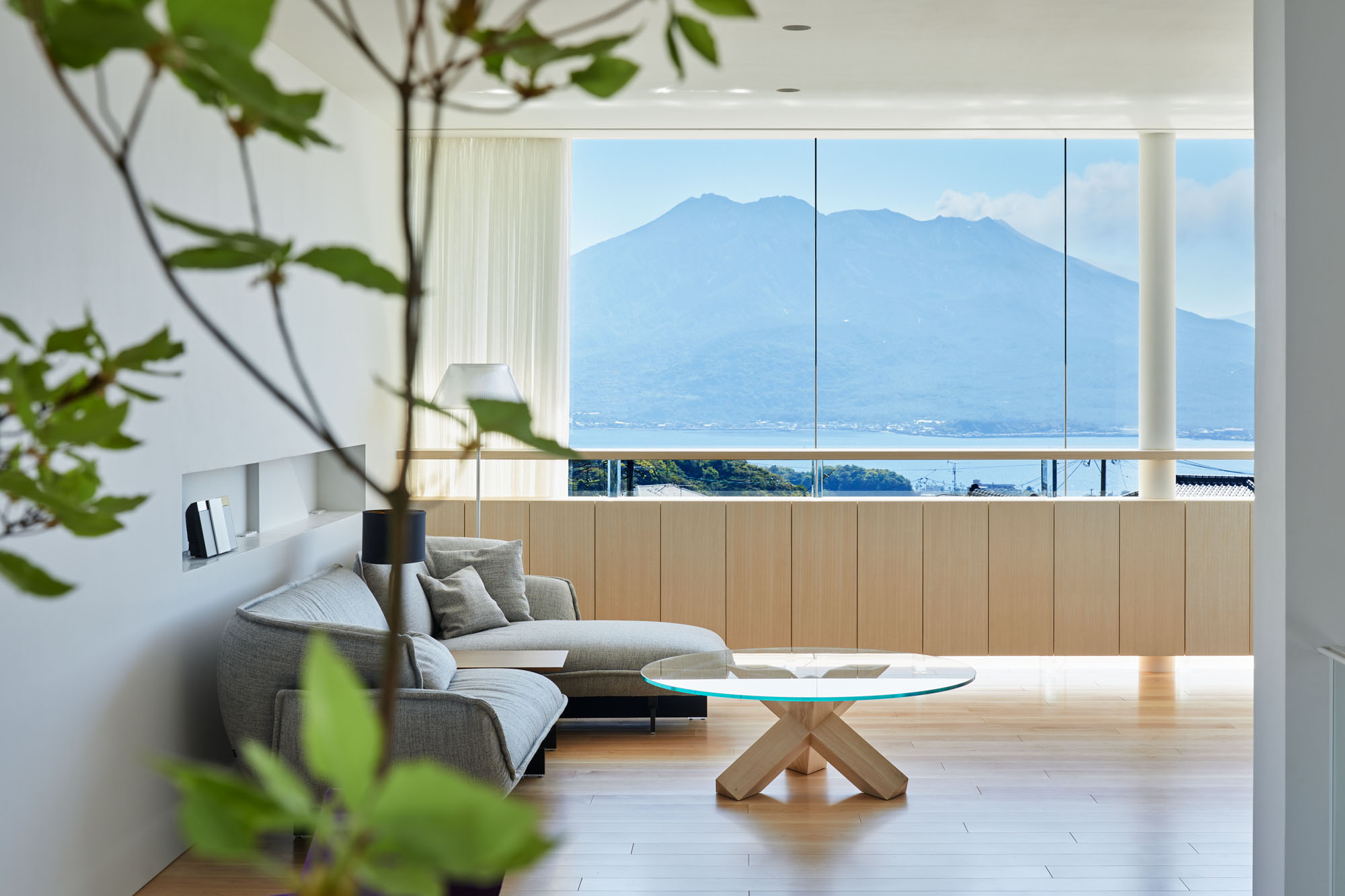 The view house of Sakurajima